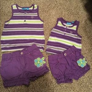 The Children's Place Matching Sister Shorts Sets